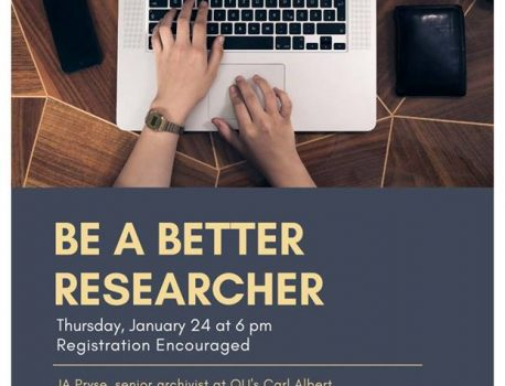 """Be a Better Researcher"" Workshop at Norman East Library"