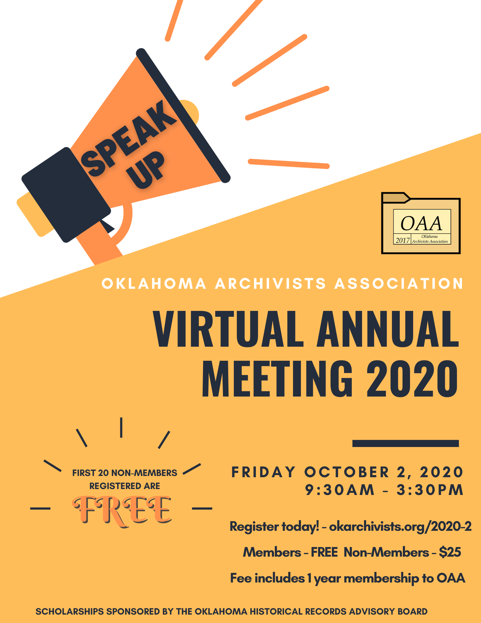 2020 OAA Virtual Annual Meeting – Registration Now Open